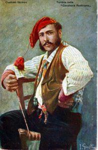 Tipici costumi tradizionali della Sicilia da uomo