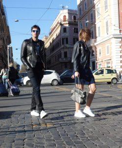 Giacchetti di pelle fotografati nella street fashion