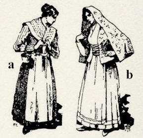 Disegno costumi tradizionali della Sicilia