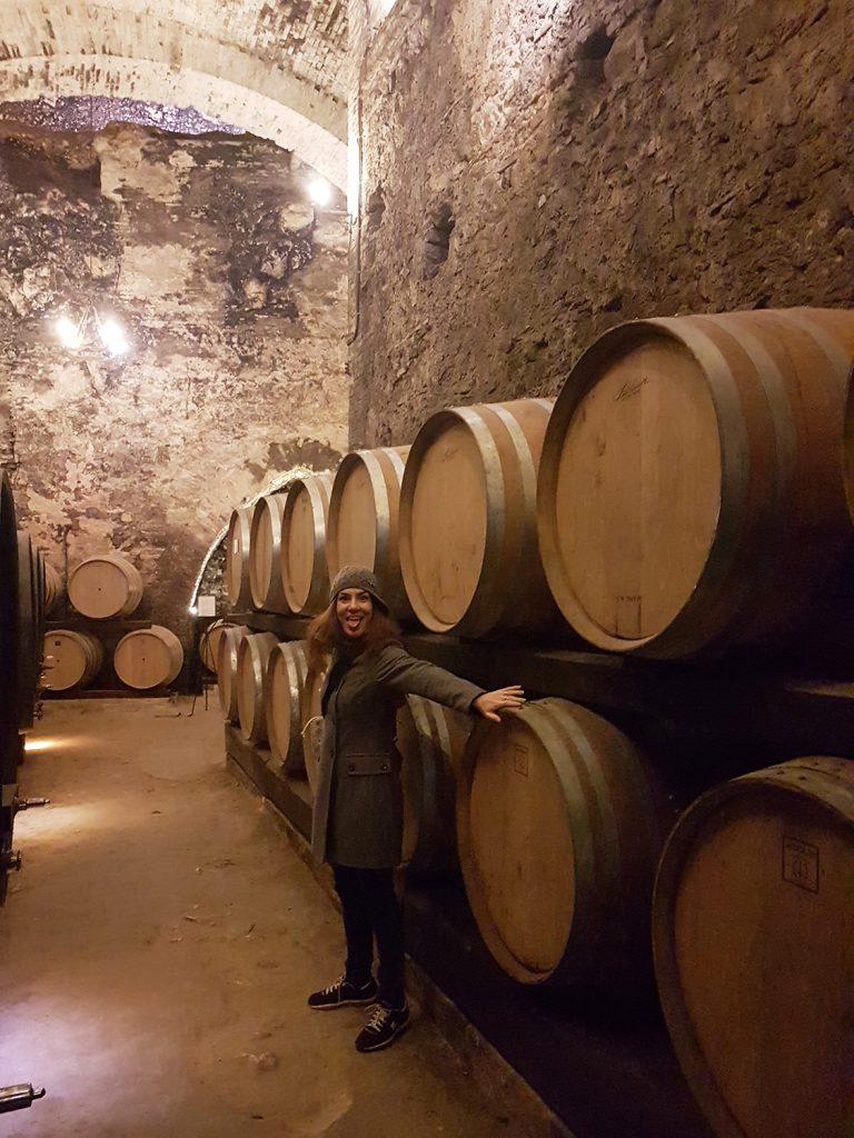 Candy Valentino nelle cantine di Vino Nobile di Montepulciano