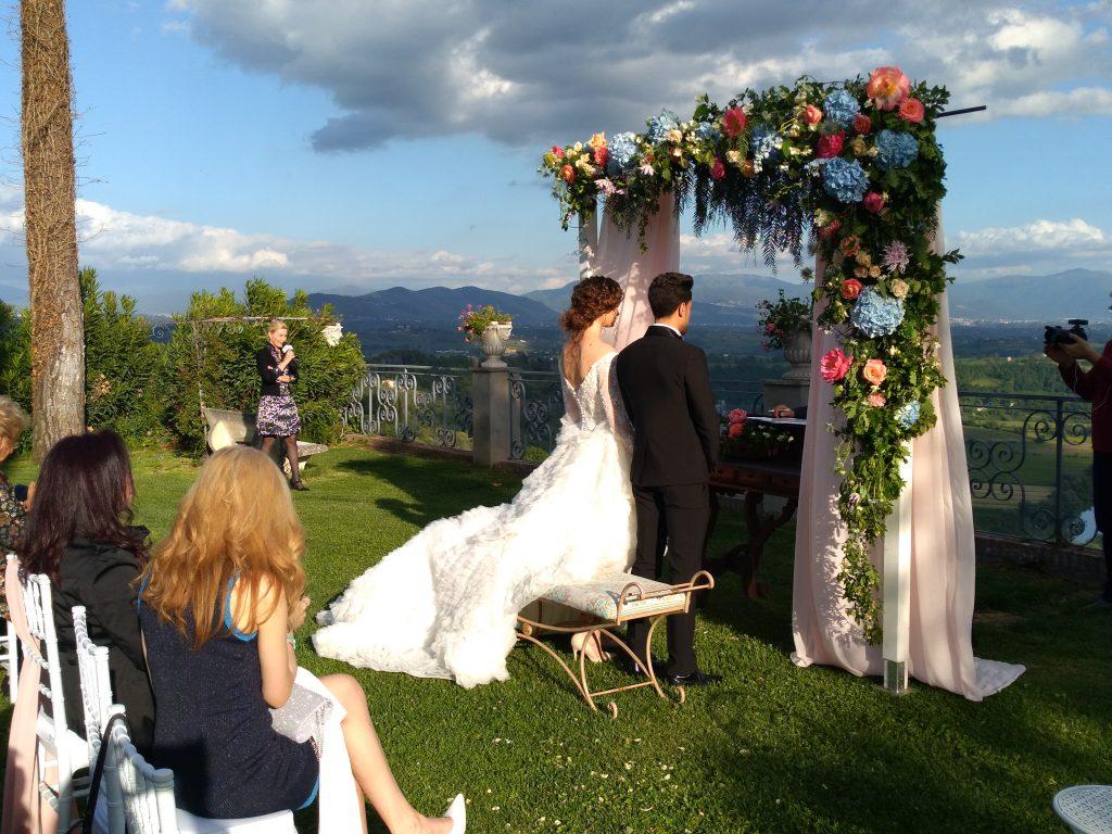 Allestimento per cerimonia a Villa Baldacchini