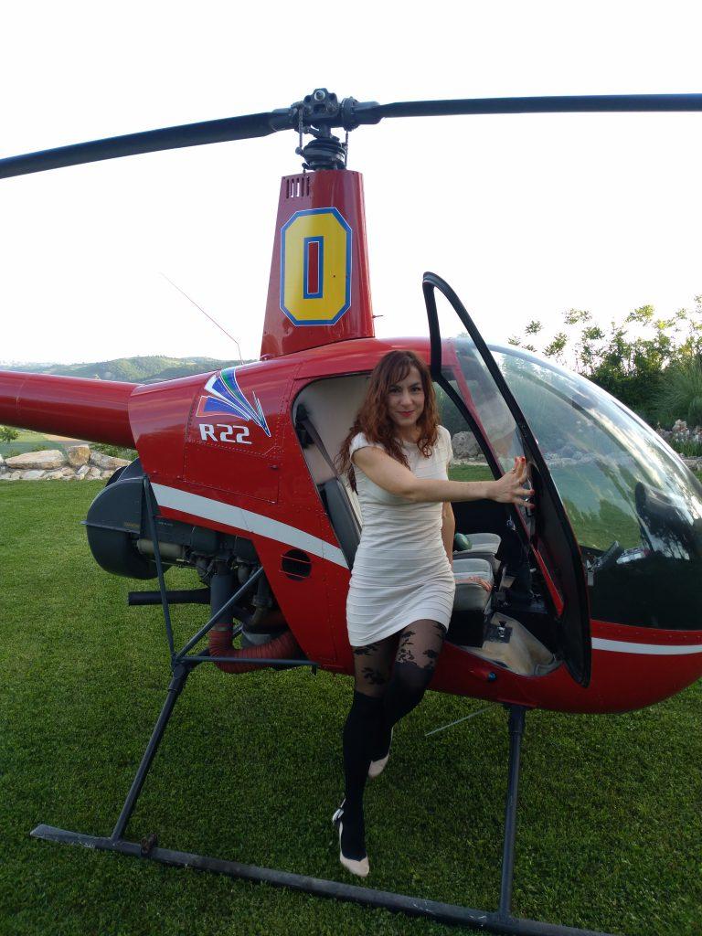 Elicottero per gli sposi a Villa Baldacchini