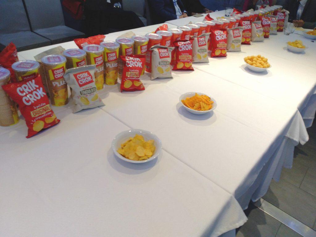 La nuova gamma di patatine e snack Crik Crok