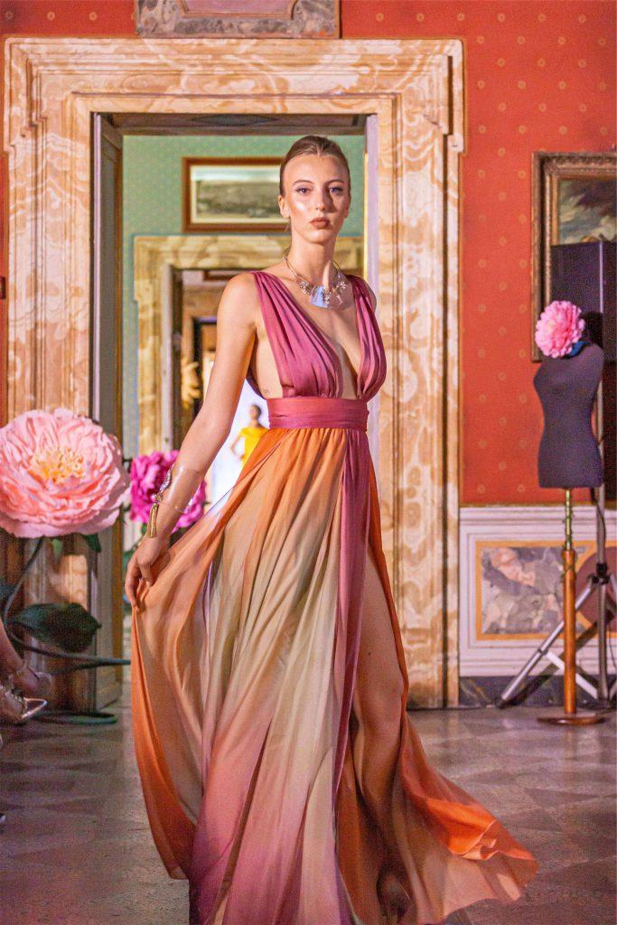 One dress of Latin American Fashion show