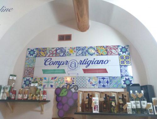 L'interno del negozio ComprArtigiano