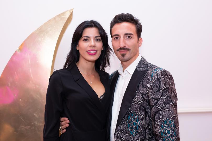 Tania Bambaci e Samul Peron alla festa di Erika Morgera
