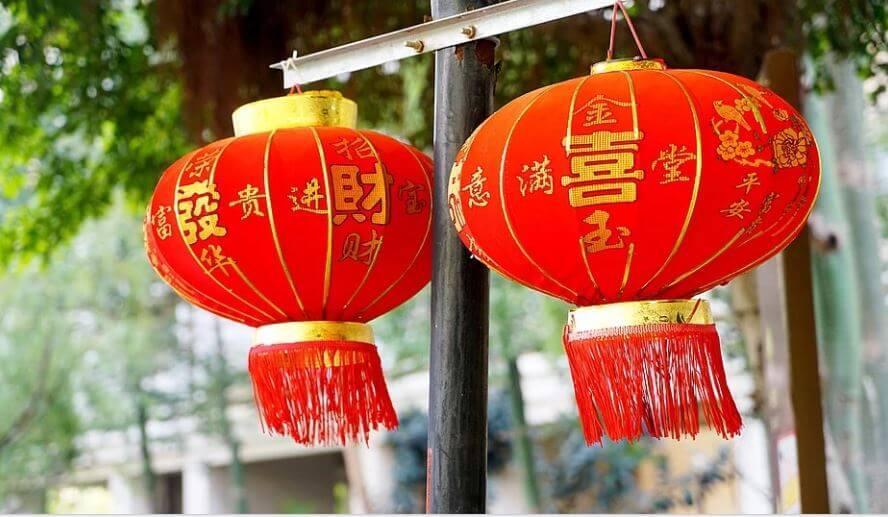 decorazioni e preparativi per la seconda edizione Rome Chinese New Year