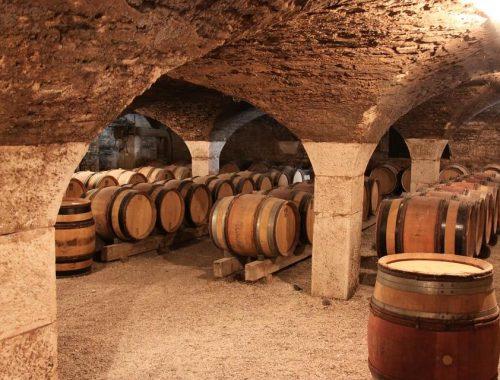 l'invecchiamento del vino in botte