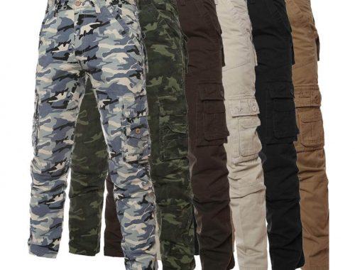 vari modelli di pantaloni militari