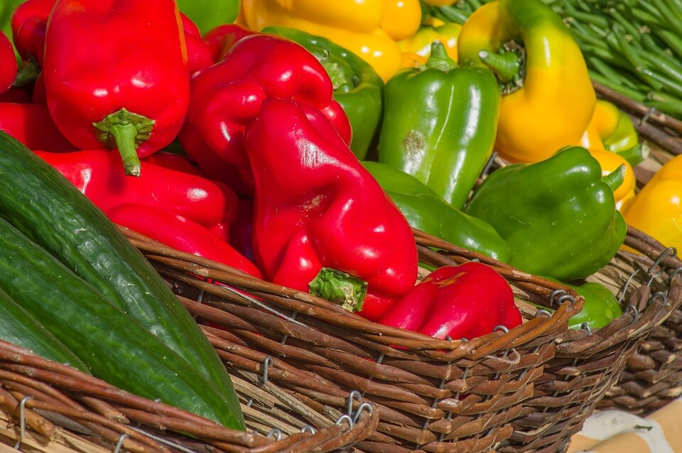 la preparazione delle ricette con peperoni