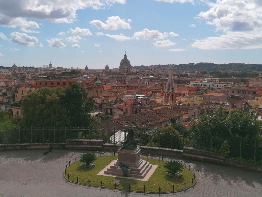 la vista su Roma da una location per matrimoni