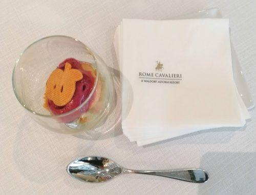 un dessert del Rome Cavalieri
