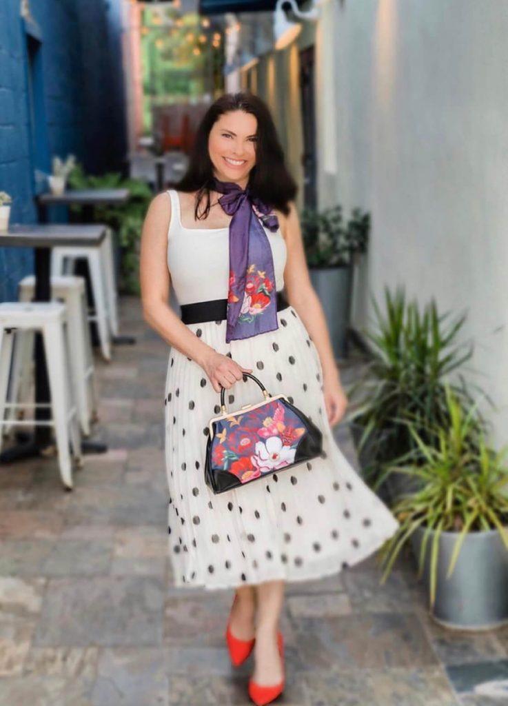 a dress of Italian fashion brand ELI B.