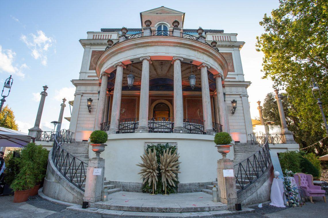 La location per matrimoni a Roma Casina Valadier
