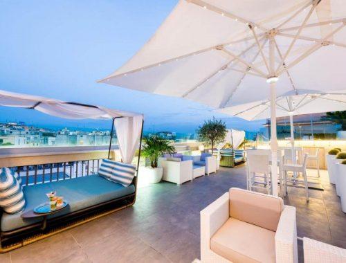 il rooftop dell'Aleph hotel a Roma