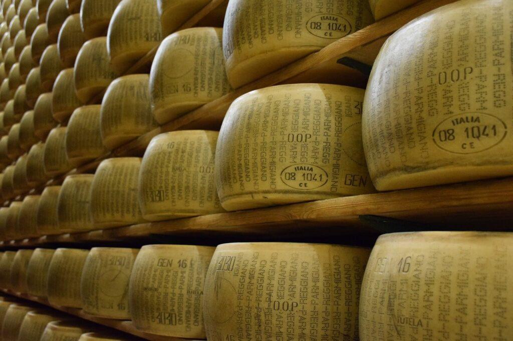 le forme di Parmigiano Reggiano