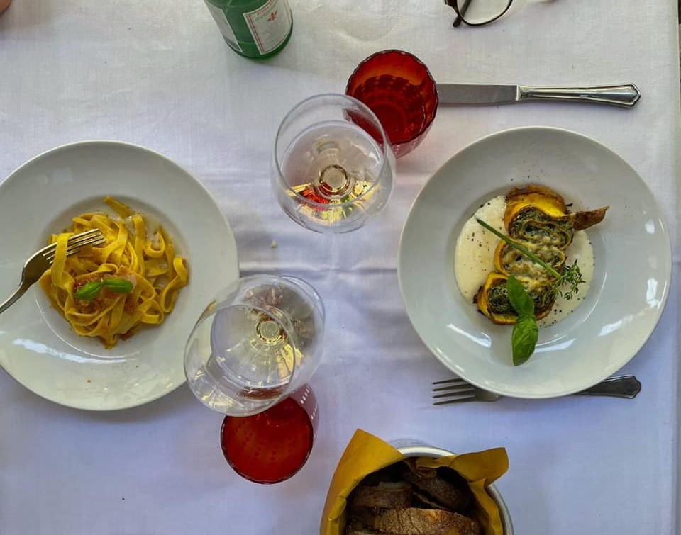 pasta at Baccano bistrot Rome