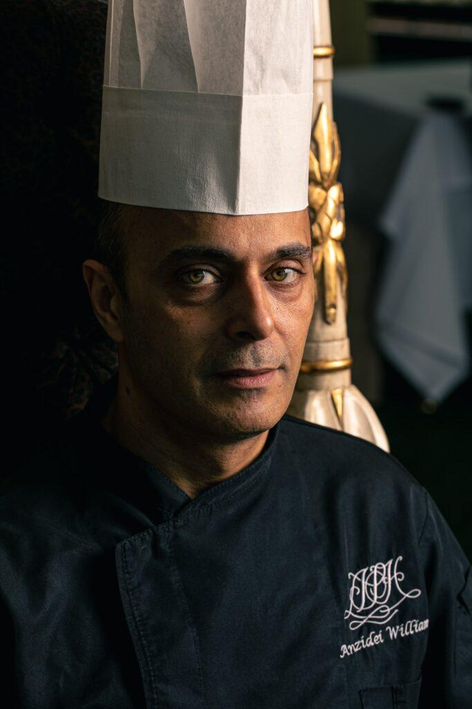 William Anzidei chef della terrazza Les Étoiles di Roma